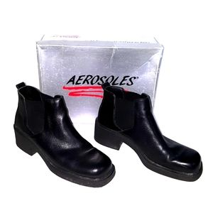Aerosoles Gotta Square black leather boots 9.5